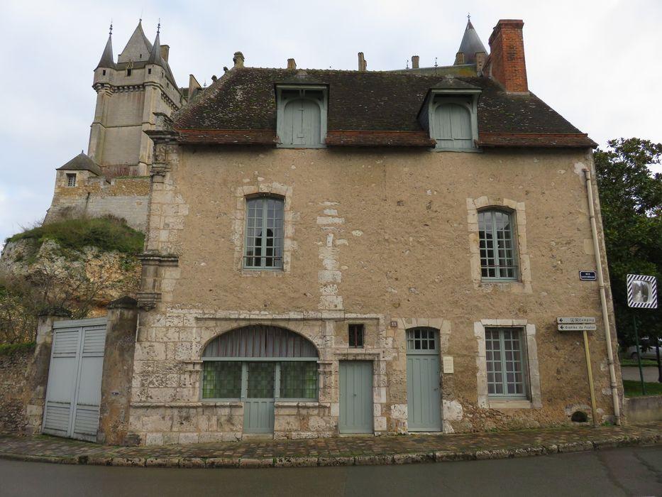 Maison dite des Architectes du Château: Façade sur rue, vue générale