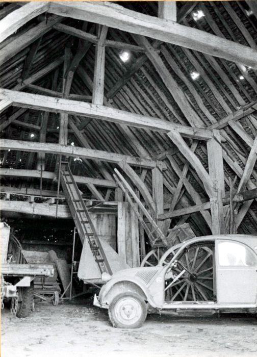 Ancienne grange aux dîmes: Vue générale de la charpente