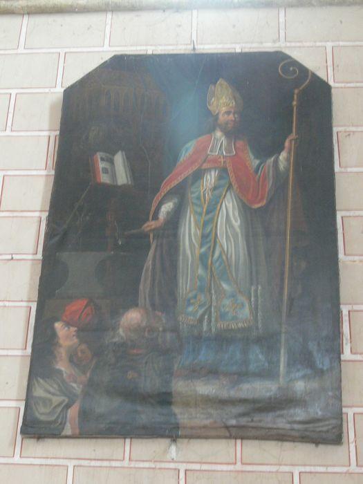Retable nord et son tableau : Saint Eloi