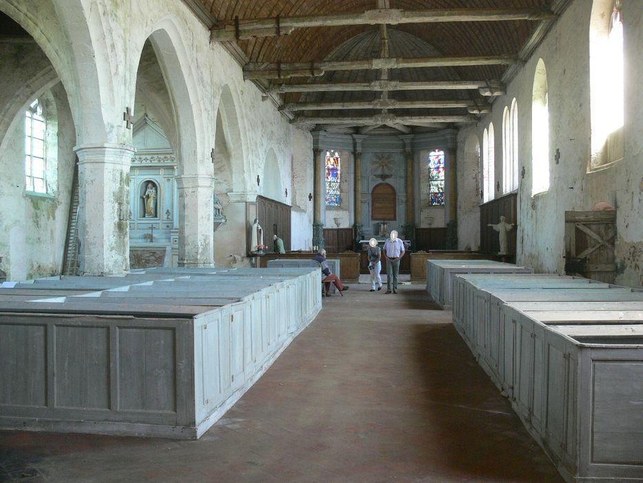 Eglise de Gâtelles: Nef, vue générale