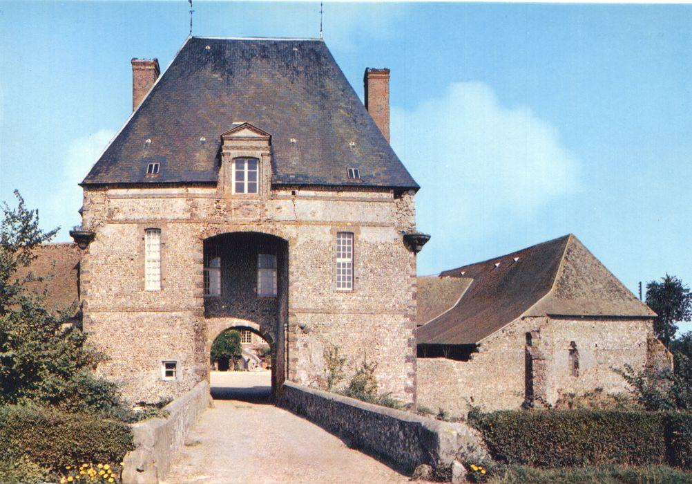 Ferme du Rouvray: Porterie, façade ouest, vue générale