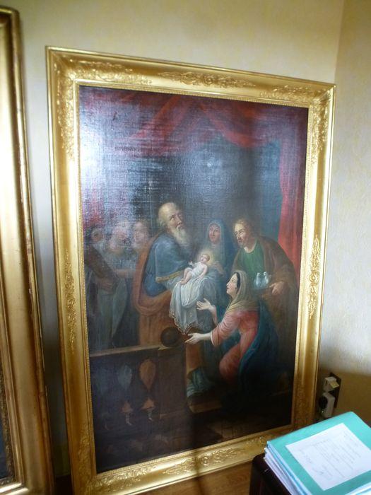 tableau et son cadre : Présentation de l'Enfant au Temple