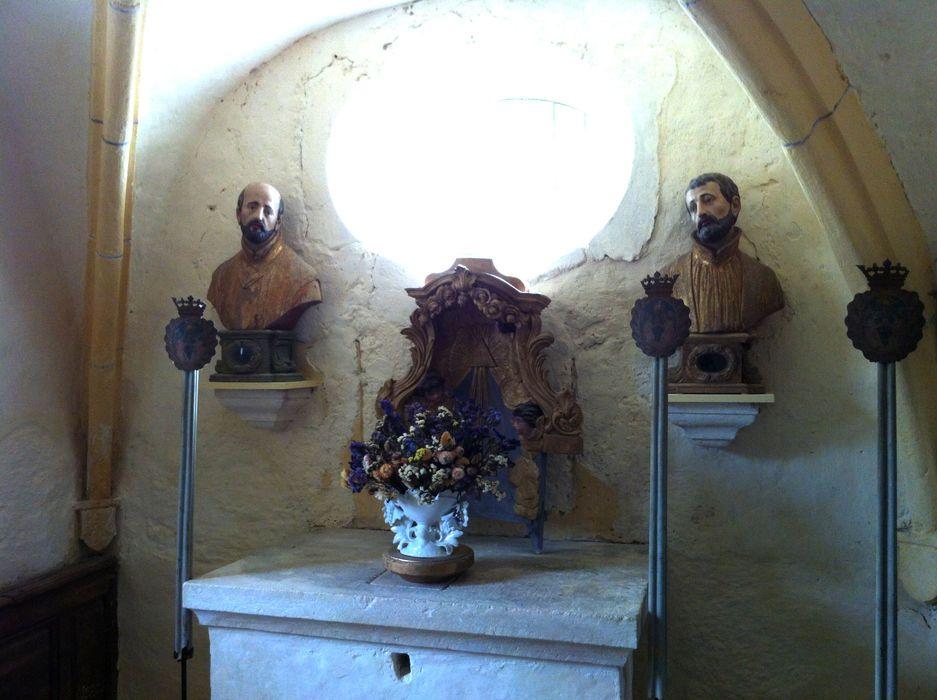deux bustes-reliquaires : Saint Ignace et Saint Louis de Gonzague ?, vue générale