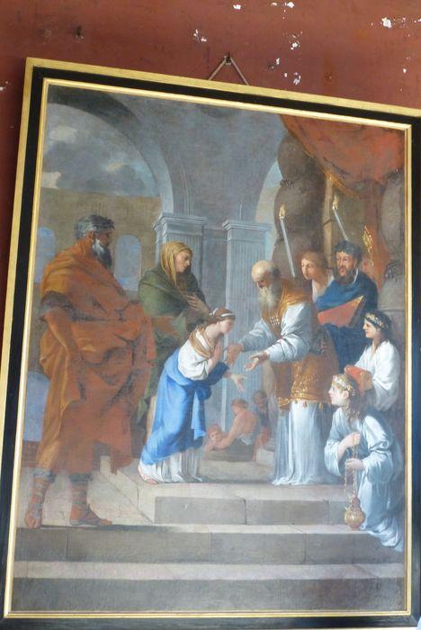 Tableau, cadre : La Présentation de la Vierge au Temple