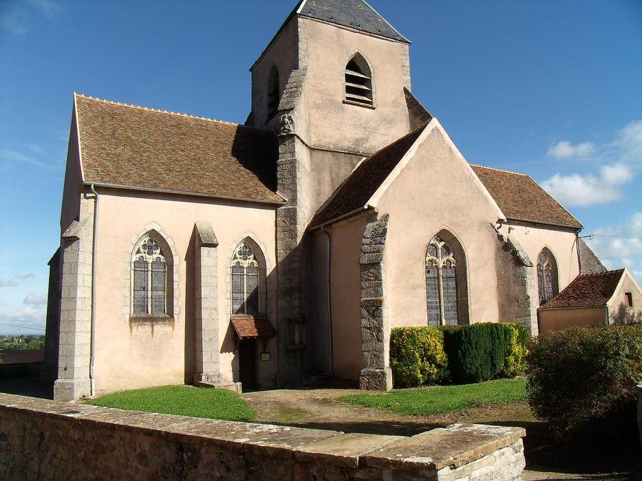 Eglise Saint-Léger: Façade latérale sud, vue générale