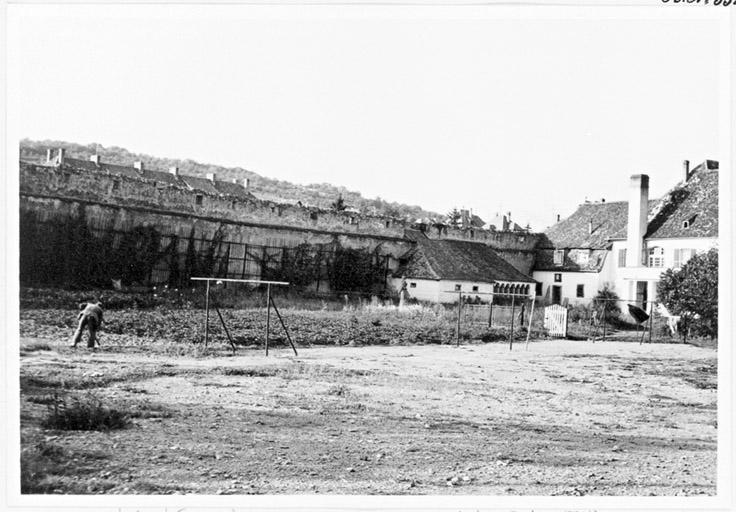 vestiges du mur d'enceinte médiéval