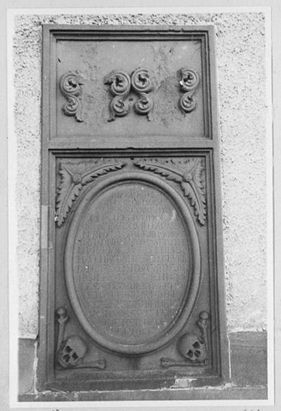 Dalle funéraire de Philippe-Conrad Joham de Mundolsheim et de Marie Salomé de Schauenbourg