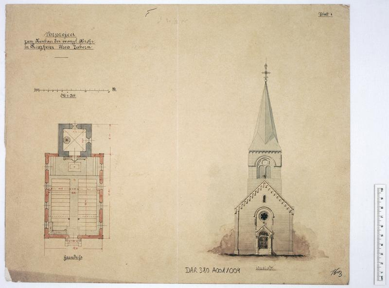 église paroissiale, Temple de Luthériens
