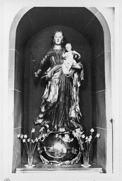 Statue : Vierge à l'Enfant et Immaculée Conception