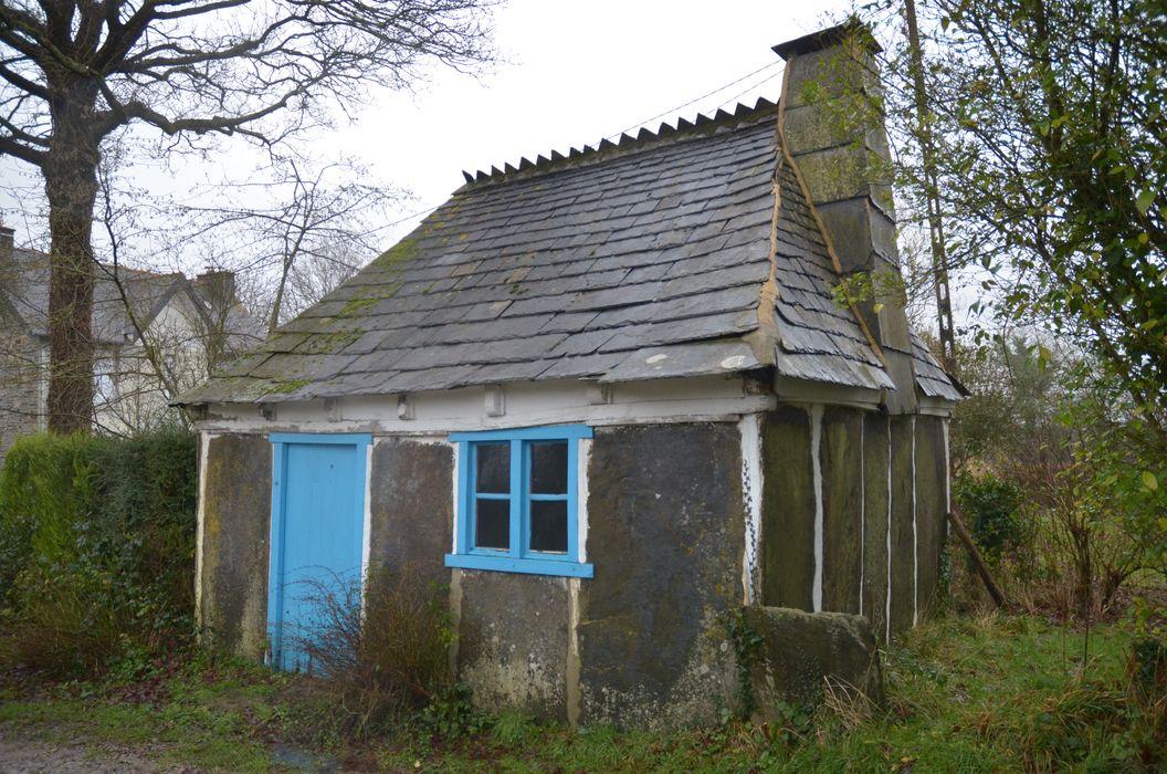 Ancienne maison d'ouvrier carrier, dite Loge Michel: Vue générale, façade antérieure