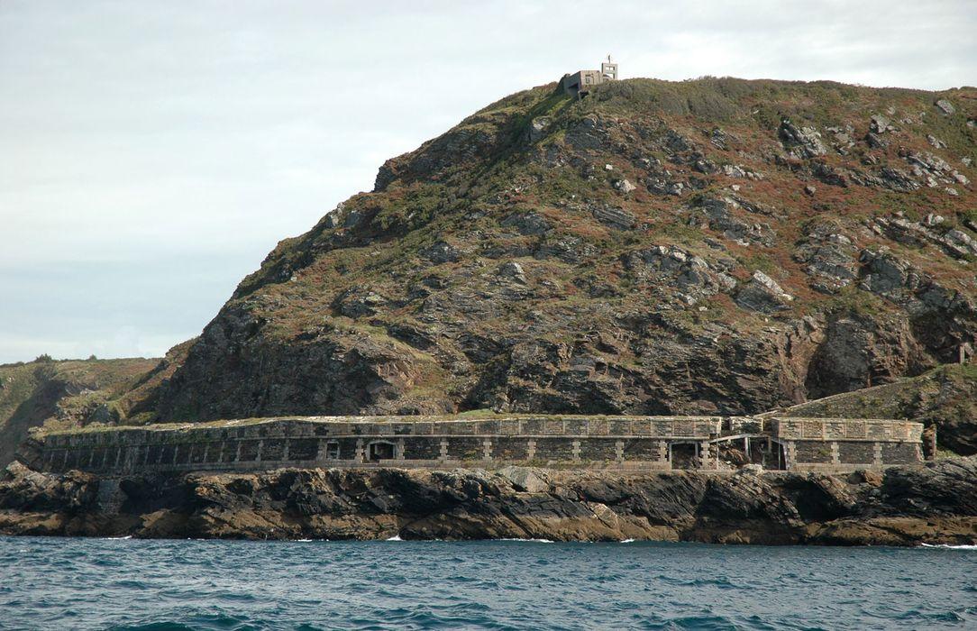 Batterie de Cornouaille: Vue générale nord-ouest depuis la mer