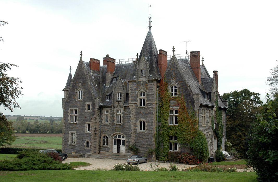 Château du Val : Façade antérieure