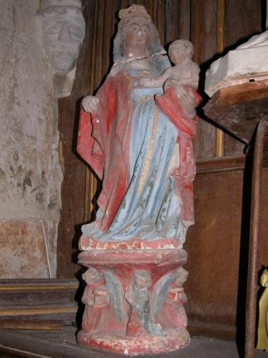Statue sur console : Vierge à l'Enfant