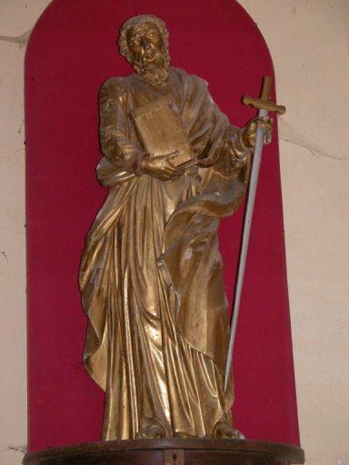2 statues (en pendant) : saint Pierre et saint Paul