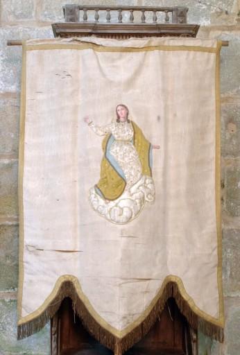 bannière de procession de la Vierge et saint Jean-Baptiste