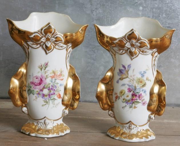 Paire de vases à fleurs (vases cornets)