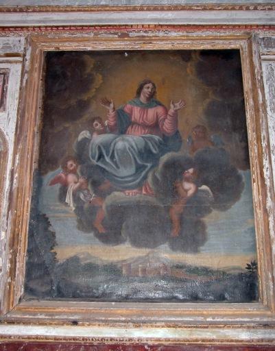 Retable architecturé et son tableau d'autel : l'Assomption