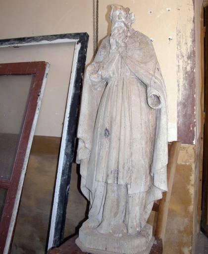 Statue : saint évêque dit saint Blaise
