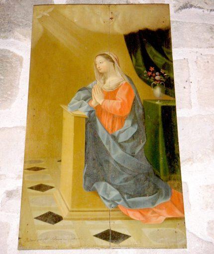 Paire de tableaux en pendant : Ange et Vierge de l'Annonciation