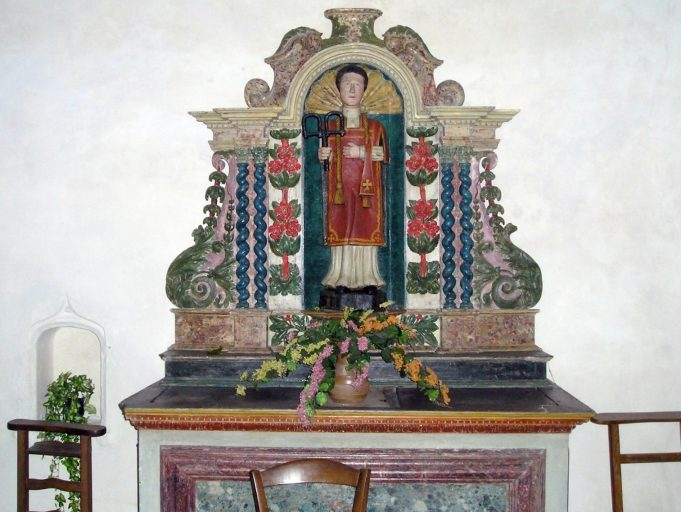 statue : saint Léonard (autel de saint Léonard)