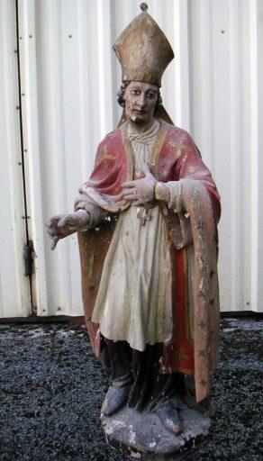 statue de saint évêque : saint Menoux