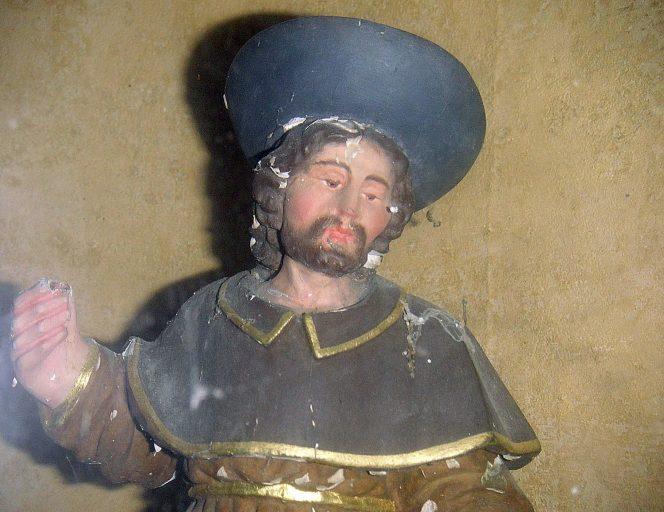 groupe sculpté-reliquaire : saint Roch et l'ange
