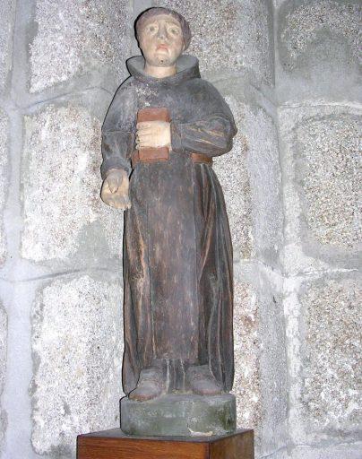 statue : saint moine tenant un livre