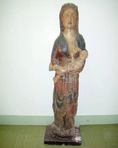Statue : Vierge à l'Enfant allaitant
