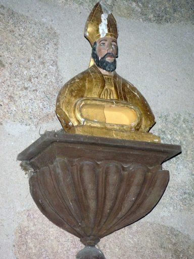 Buste-reliquaire de saint évêque : saint Hilaire ?