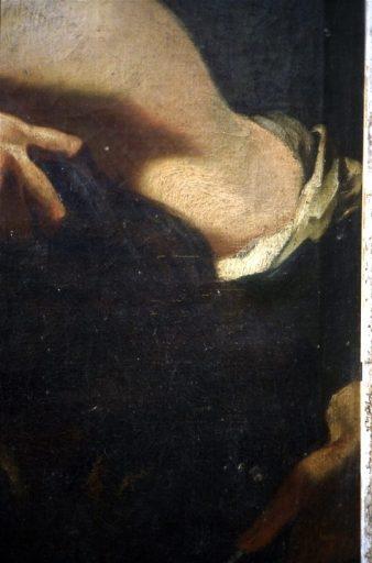 Tableau, cadre : David présentant la tête de Goliath