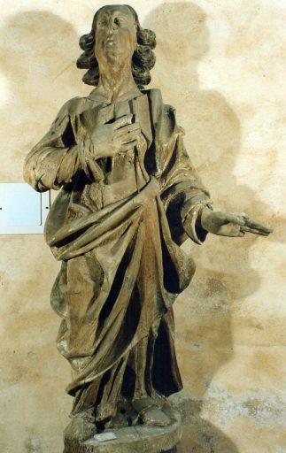 2 statues : la Vierge et saint Jean l'évangéliste (éléments d'un Calvaire)