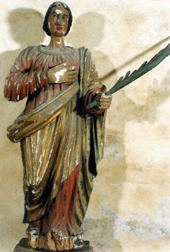 Statue de sainte martyre : sainte Valérie ?