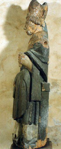 Statue : saint évêque assis, dit saint Martial