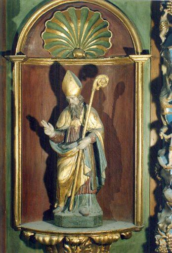 Retable, tableau : la Décollation de sainte Valérie, 3 statues : saint Pierre, saint Martial, sainte Valérie