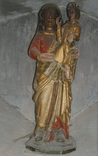 statue : Vierge à l'Enfant dite Vierge noire et Notre-Dame sous Terre