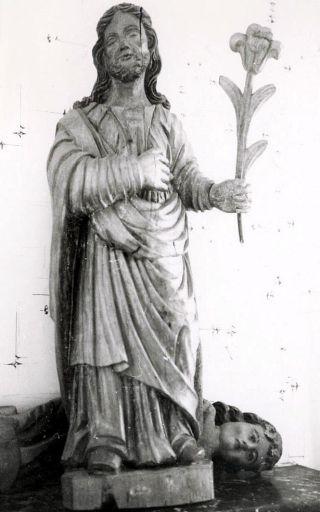Statue : saint Joseph à la fleur de lys