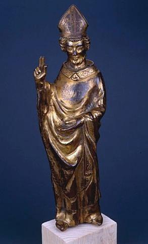 Statue (figurine d'applique) : saint Clair