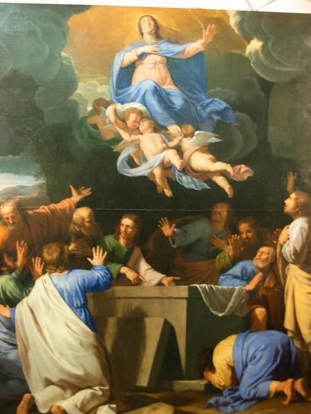 Tableau et son cadre : l'Assomption (maître-autel)