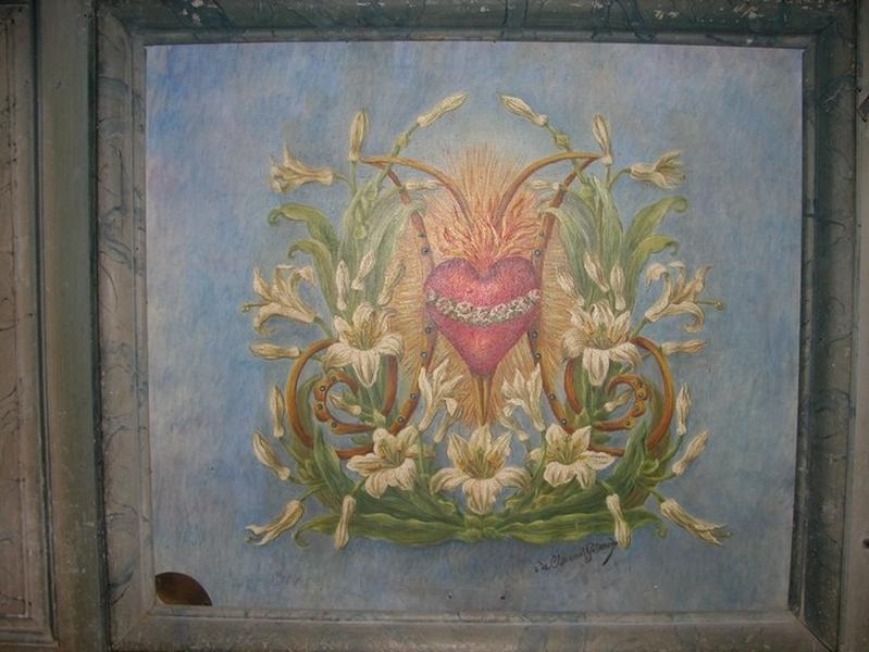 Ensemble du décor de la chapelle sud : autel, gradins d'autel, retable à super-ciel