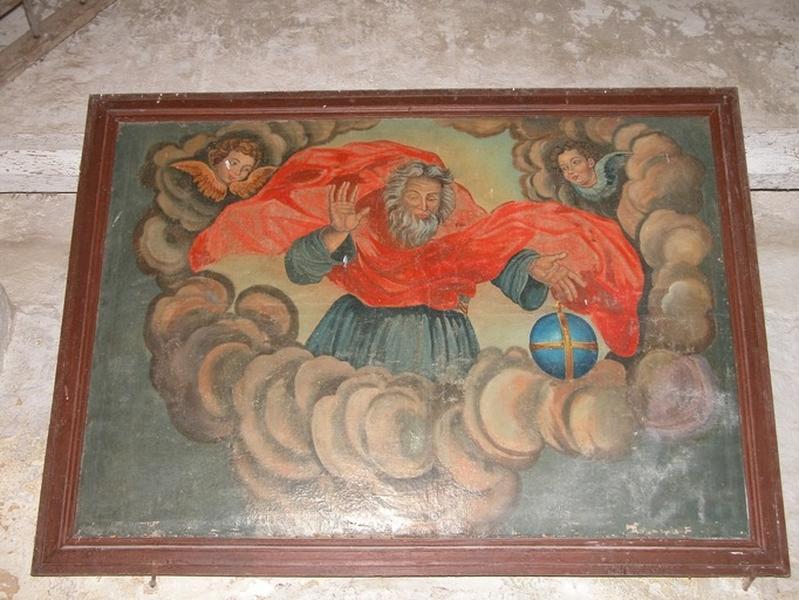 Tableau et son cadre : Dieu le Père