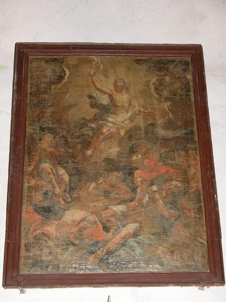 Tableau et son cadre : La Résurrection