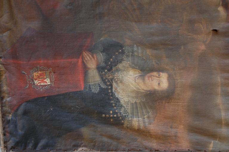 Tableau, cadre : l'Assomption de la Vierge et deux donateurs