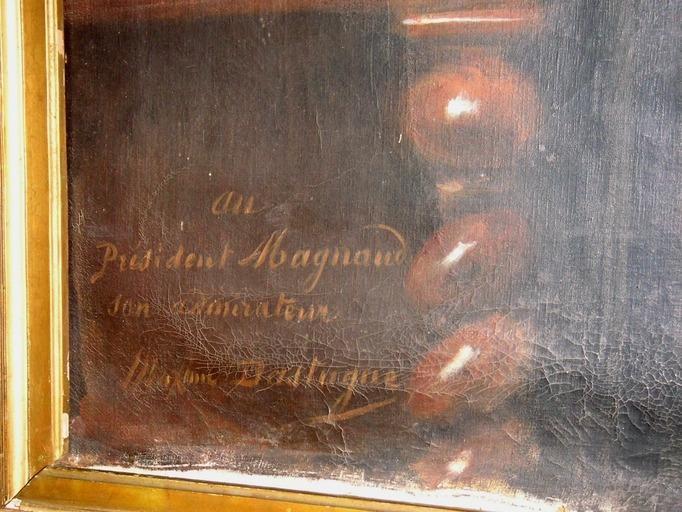 Tableau, cadre : Portrait en pied du président Magnaud