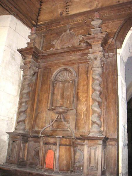 Degré d'autel, autel, gradin d'autel, tabernacle, retable (autel latéral nord)