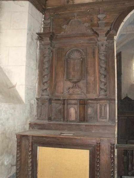 Degrés d'autel, 2 autels, gradins d'autel, tabernacle, retables