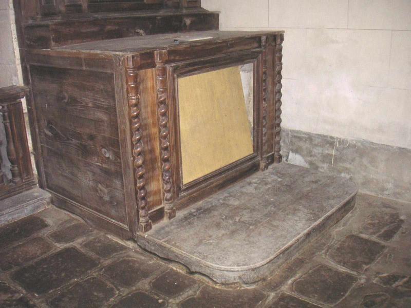 Degré d'autel, autel, gradin d'autel, tabernacle, retable (autel latéral sud)