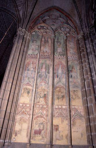 Peinture monumentale de la chapelle Saint-Léonard (ensemble des peintures monumentales médiévales du déambulatoire et des absidioles)