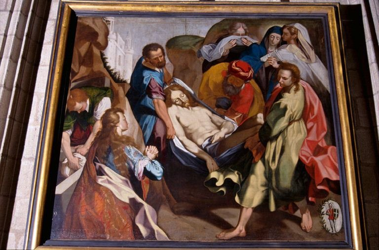 Tableau : le Portement du Christ mort