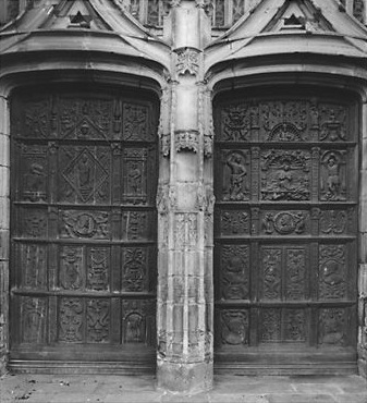 2 vantaux du portail du transept nord, dit portail Saint-Jean