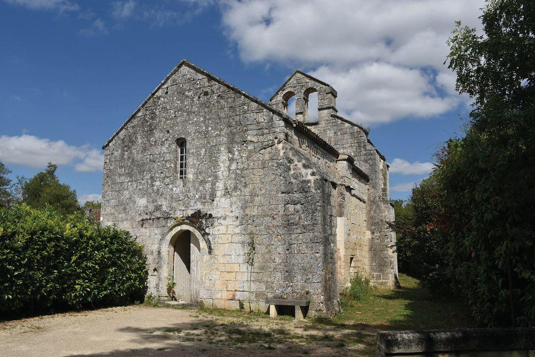Ancienne église de Saint-Surin: Façade occidentale, vue générale